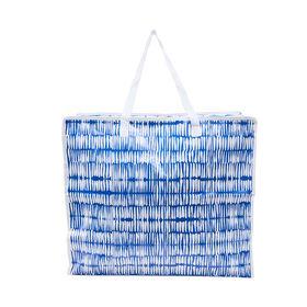 BAG ATTACK Jumbotasche blau/weiß