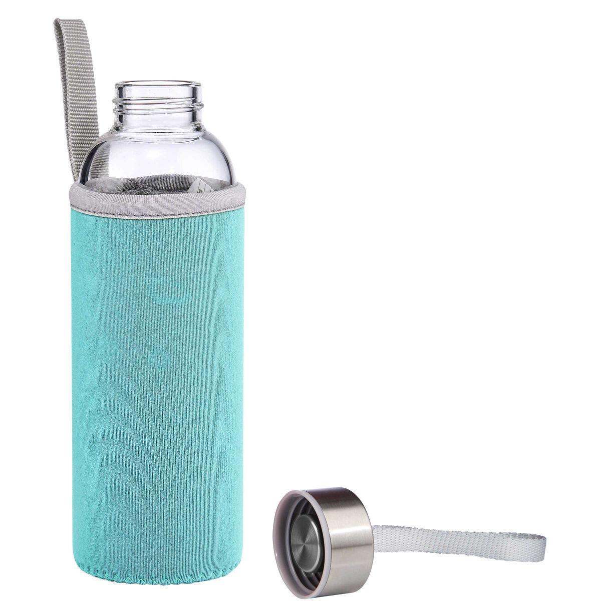 smoothie trinkflasche mit tasche hellblau butlers. Black Bedroom Furniture Sets. Home Design Ideas