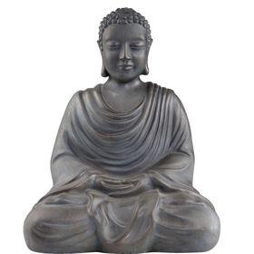 BUDDHA Statue antikgrau