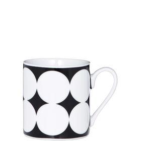 BLACK & WHITE Espressotasse große Punkte