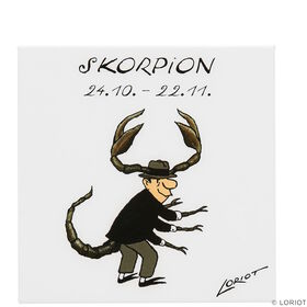 LORIOT Kühlschrankmagnet Skorpion
