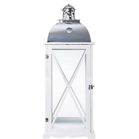 LIGHTHOUSE Holzlaterne 85cm, weiß