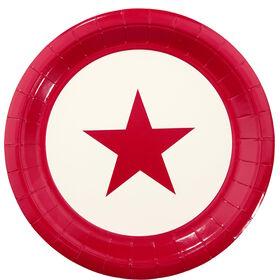 STARS Pappteller 10 Stück Stern rot groß
