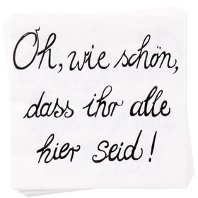 """APRÈS Papierserviette """"Oh wie schön"""""""