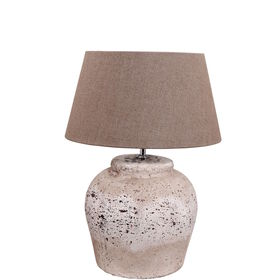 POTTER Tischleuchte Keramik grau