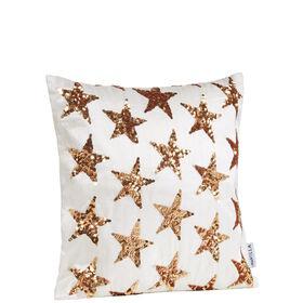 MIAVILLA Kissenhülle Stars weiß/gold