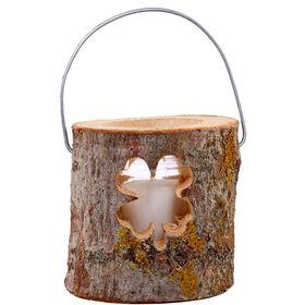 FOREST Holzlaterne mit Kerze Klee 12cm