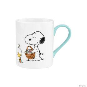 PEANUTS Tasse Snoopy und Woodstock blau