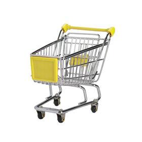 SUPERMARKET Einkaufswagen klein gelb