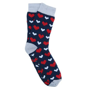 COZY SOCKS Socke Herzen blau 39-42