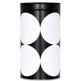 BLACK & WHITE Kaffeedose Punkte