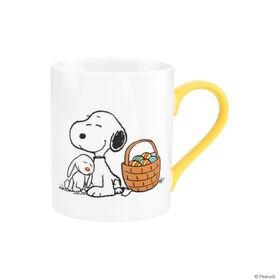 PEANUTS Tasse Snoopy und Hase gelb