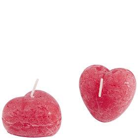 HEART Kerze Herz rot 6cm 2er Set