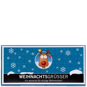 """X-MAS Schoko """"Weihnachtsgrüßer"""" 100g"""