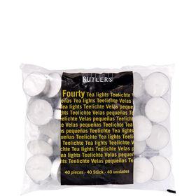FOURTY Teelichte 40 Stk. Brenndauer 4,5h