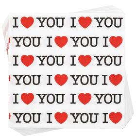 """APRÈS Papierserviette """"I love you"""""""