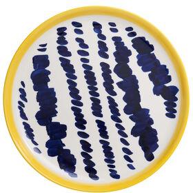 ELECTRIC BLOSSOM Teller blau/gelb groß