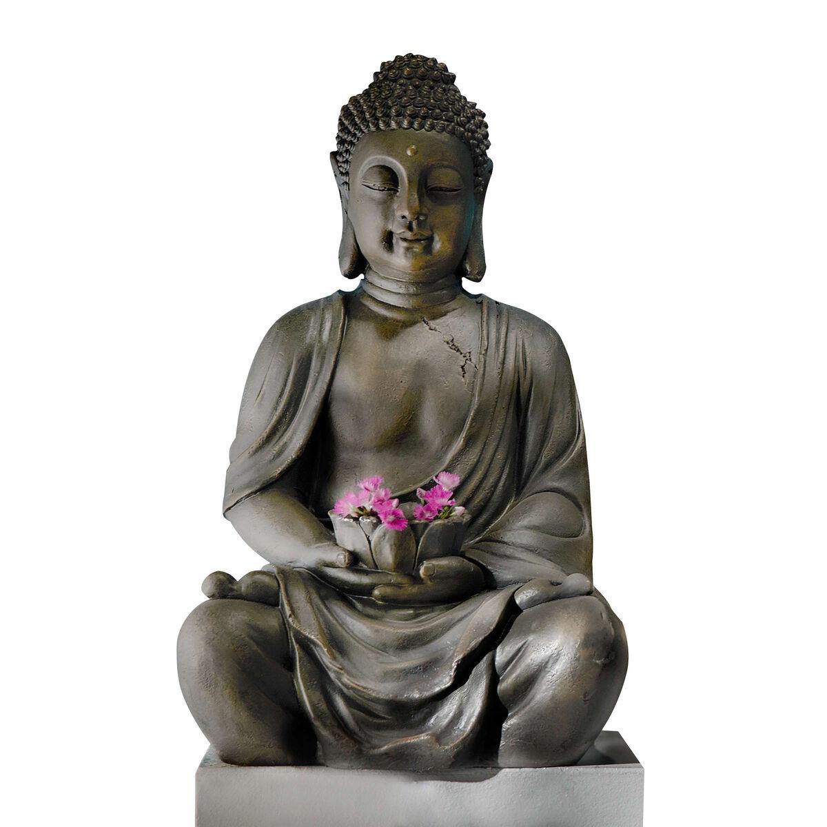 buddha deko figur mit windlicht butlers. Black Bedroom Furniture Sets. Home Design Ideas