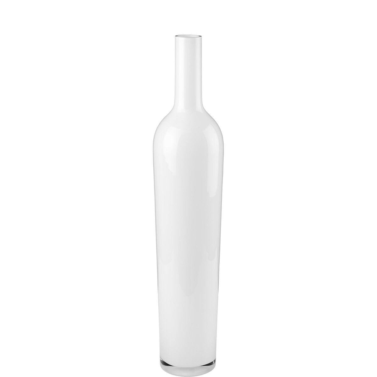 AMALIA Glas Bodenvase weiß L80cm