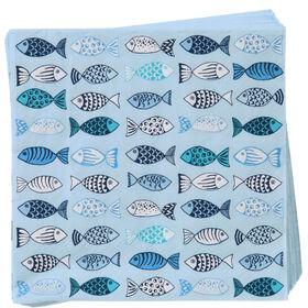 APRÈS Papierserviette Fische