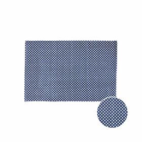SILENT DANCER Teppich Punkte bl/w 60x90