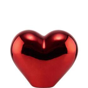 LOVE Deko Herz aus Keramik 12cm, rot