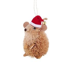 HANG ON Stroh Maus mit Santa Mütze
