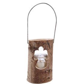 FOREST Holzlaterne m. Kerze Glas Engel