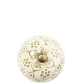 OPEN Möbelknopf rund olivgrün