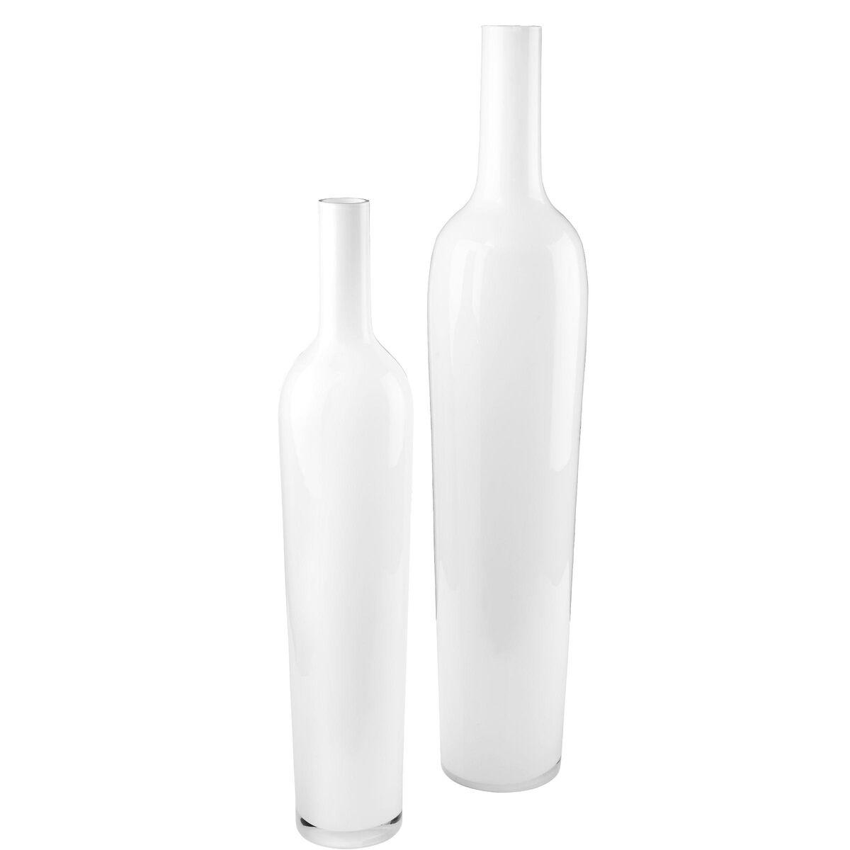 AMALIA Glas Bodenvase weiß L99cm