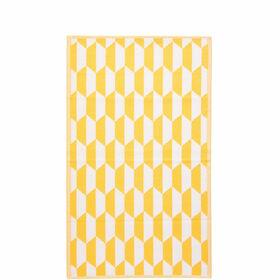 COLOUR CLASH Outdoorteppich gelb-weiß