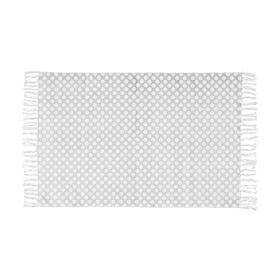 SILENT DANCER Teppich Punkte gr/w 60x90