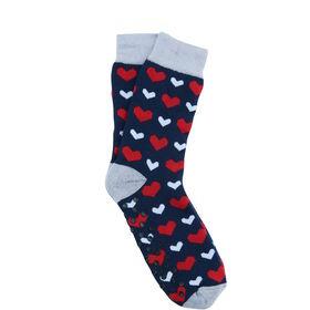 COZY SOCKS Socke Herzen blau 35-38