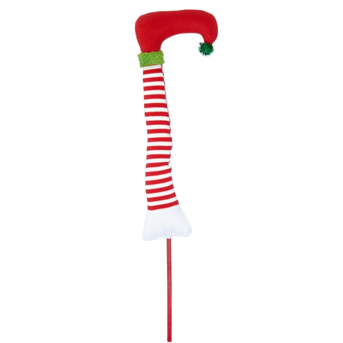 X-MAS Bein Weihnachtself auf Stick 62cm
