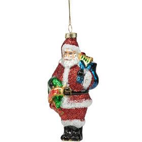 HANG ON Santa mit Kranz H13cm