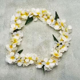 ALOHA Blumenkette Frangipani weiß