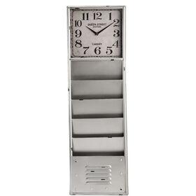 TIME & SPACE  Wanduhr H99cm, silber