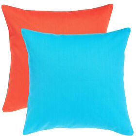 TWO TONES Kissen 50x50 orange/blau