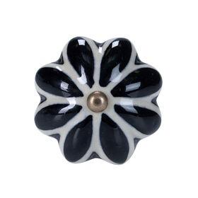 OPEN Möbelknopf Ornament schwarz
