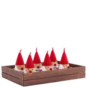 FLAMBEAU Weihnachtsmannteelicht 2h 6Stk