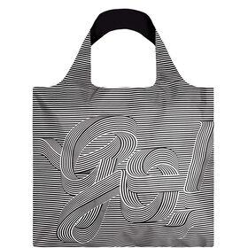LOQI Einkaufstasche Black & White GO