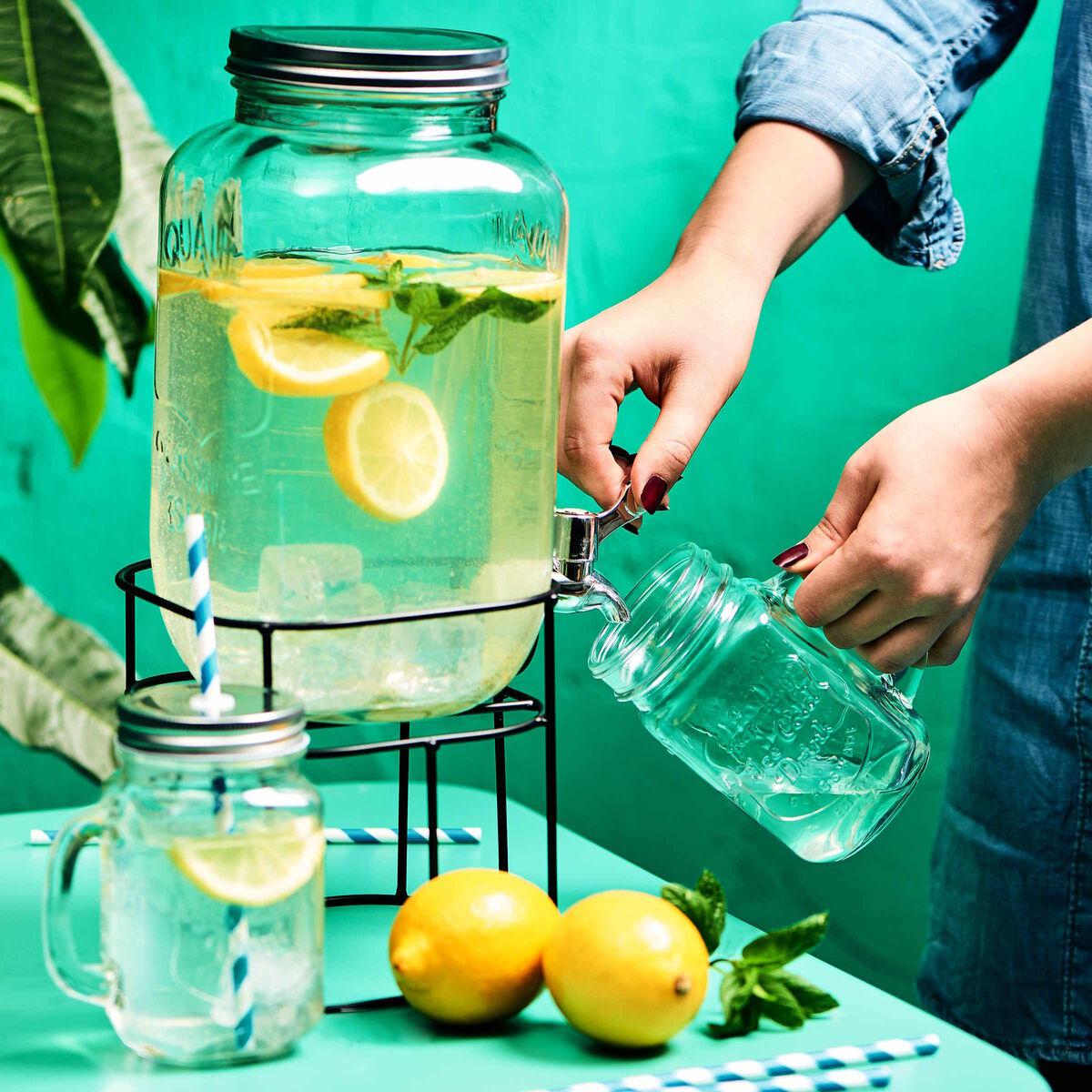 REFRESH Trinkglas mit Deckel 450 ml