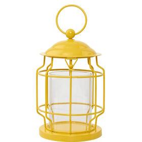 LIGHTHOUSE Laterne 17cm, gelb
