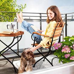 Gartenstühle und -liegen