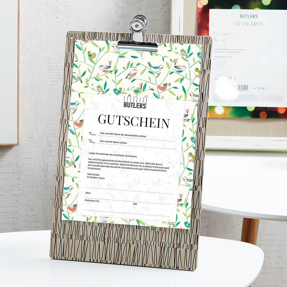 butlers gutschein geschenkgutscheine online bestellen. Black Bedroom Furniture Sets. Home Design Ideas