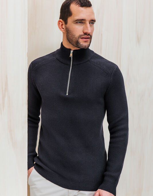 PULL COL MONTANT A COTES