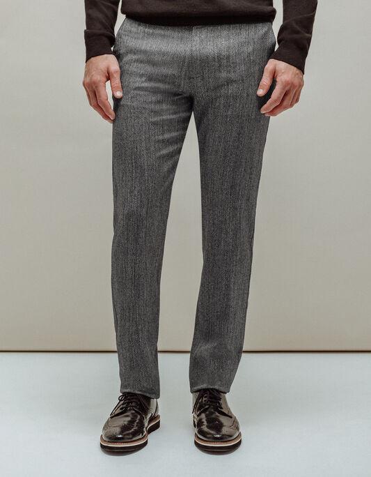 Pantalon homme 5 poches slim noir et blanc