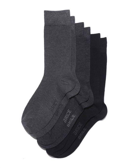 Chaussettes homme en coton unies par 3