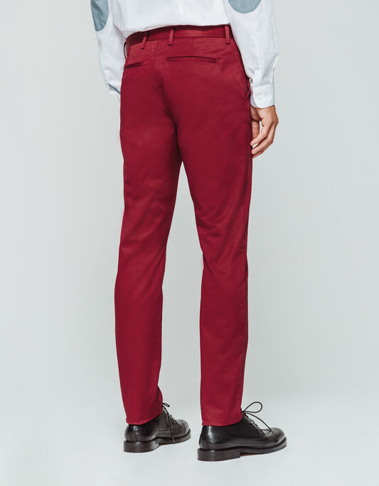 Pantalon chino homme slim uni coton