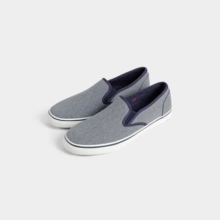Basket slip on canvas lavé
